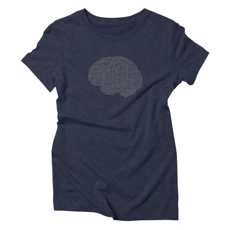 Brain Work Women's Triblend T-shirt by Daniel Dugan's Artist Shop