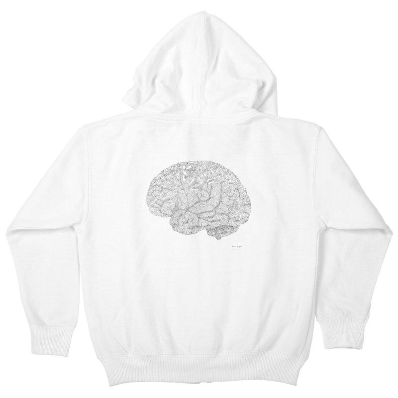 Brain Work Kids Zip-Up Hoody by Daniel Dugan's Artist Shop