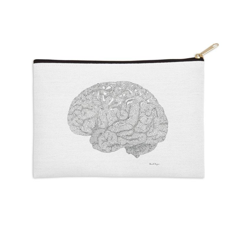 Brain Work Accessories Zip Pouch by Daniel Dugan's Artist Shop