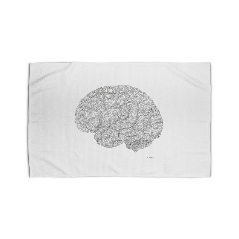 Brain Work Home Rug by Daniel Dugan's Artist Shop