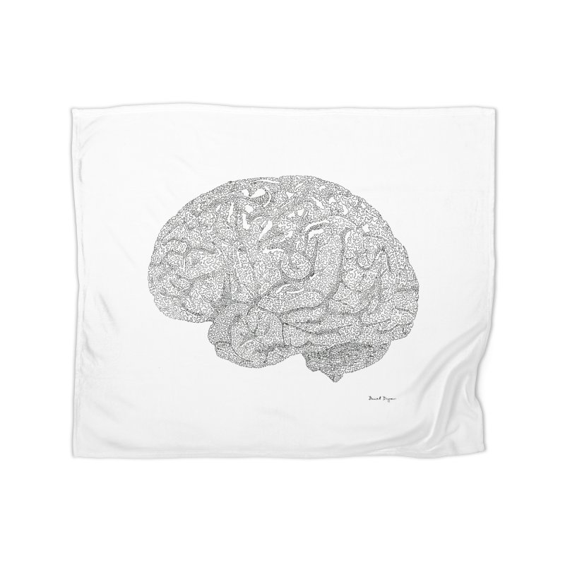 Brain Work Home Blanket by Daniel Dugan's Artist Shop
