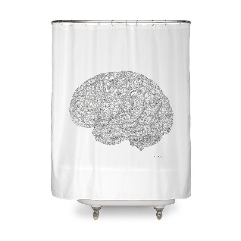 Brain Work Home Shower Curtain by Daniel Dugan's Artist Shop