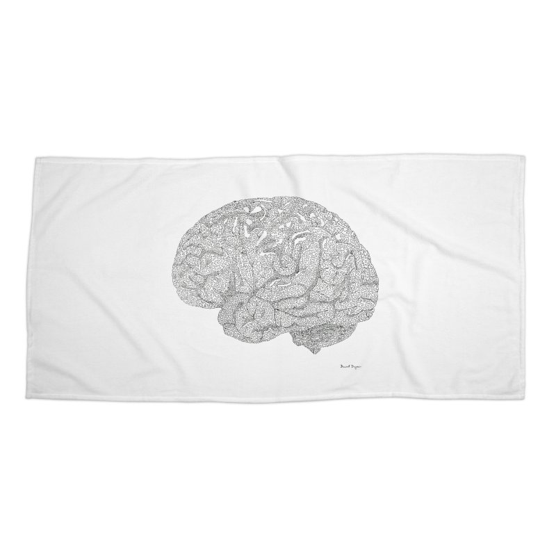 Brain Work Accessories Beach Towel by Daniel Dugan's Artist Shop