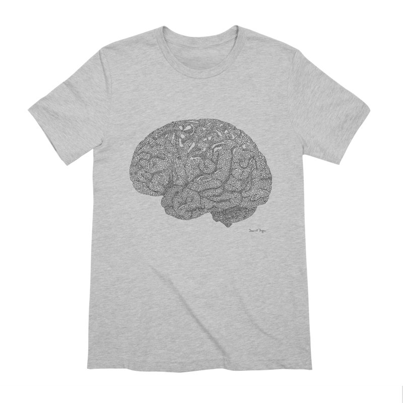 Brain Work Men's Extra Soft T-Shirt by Daniel Dugan's Artist Shop