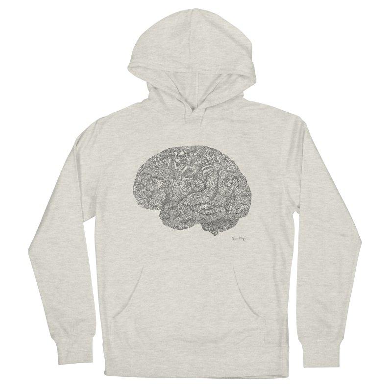 Brain Work Men's French Terry Pullover Hoody by Daniel Dugan's Artist Shop