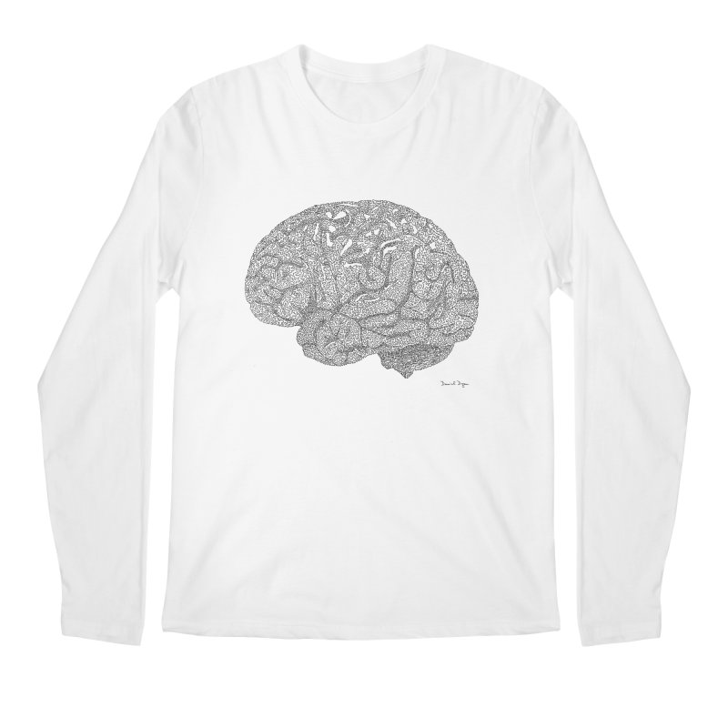 Brain Work Men's Regular Longsleeve T-Shirt by Daniel Dugan's Artist Shop