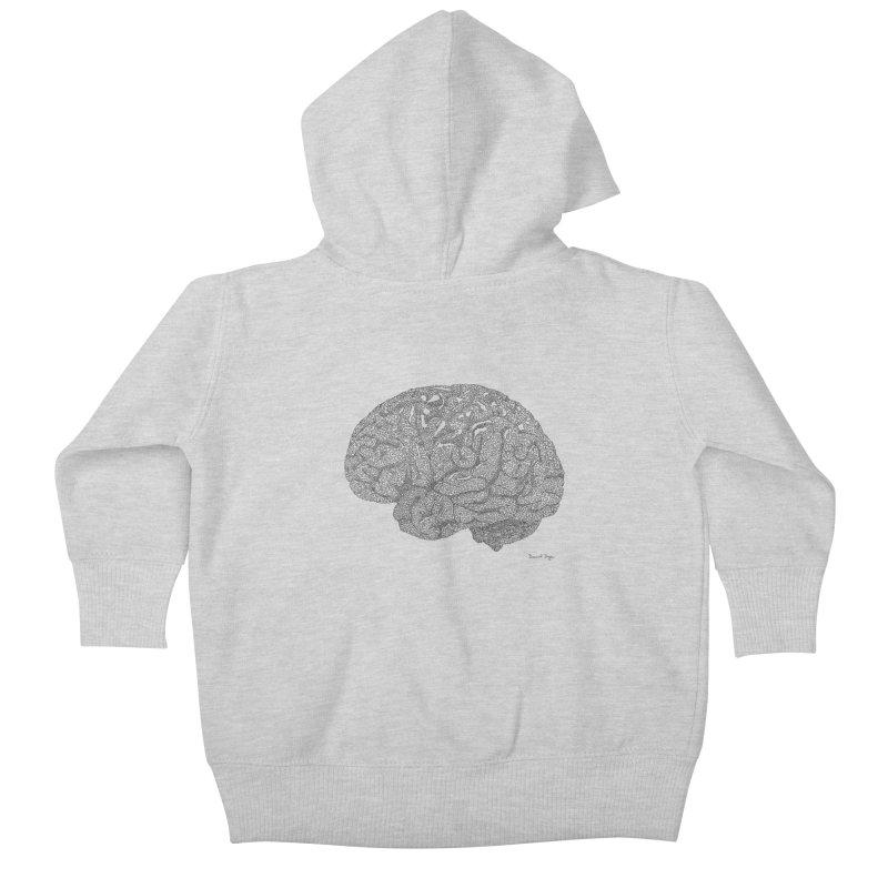 Brain Work Kids Baby Zip-Up Hoody by Daniel Dugan's Artist Shop