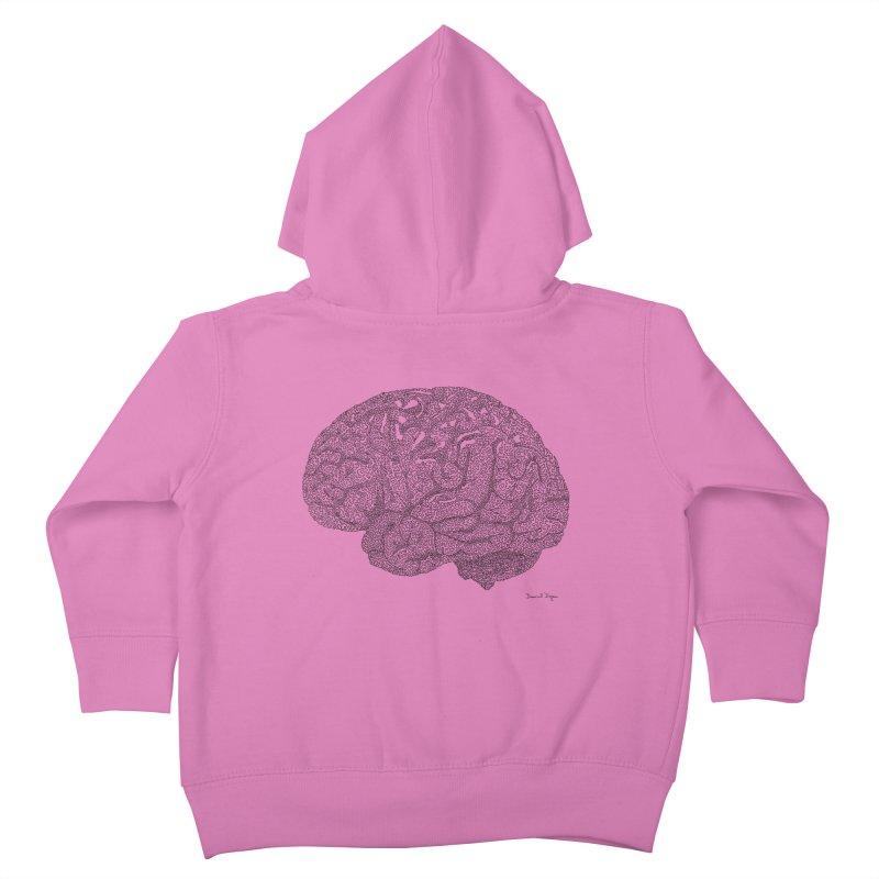 Brain Work Kids Toddler Zip-Up Hoody by Daniel Dugan's Artist Shop