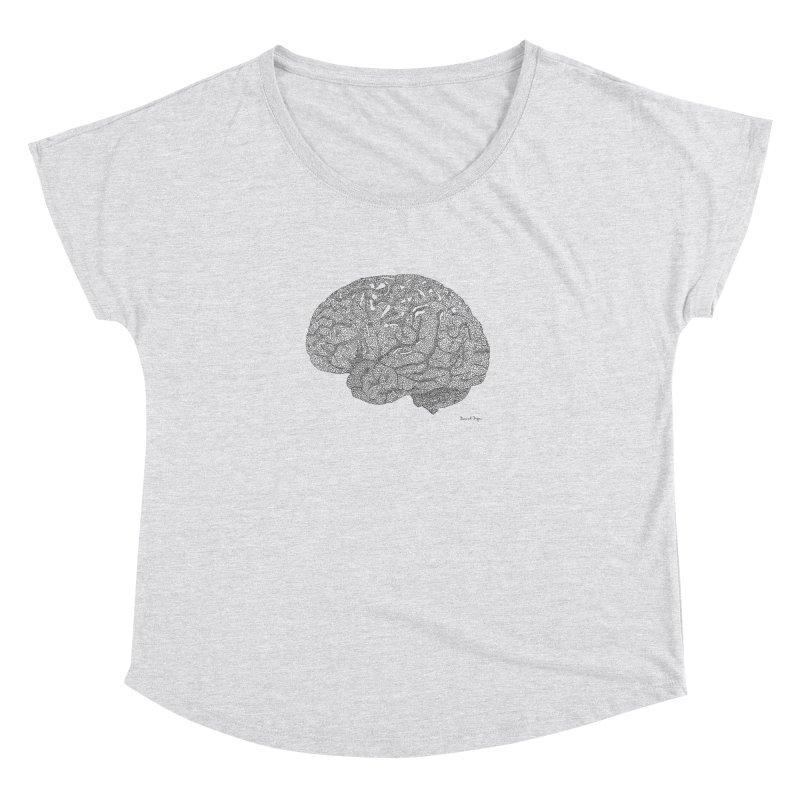 Brain Work Women's Dolman Scoop Neck by Daniel Dugan's Artist Shop