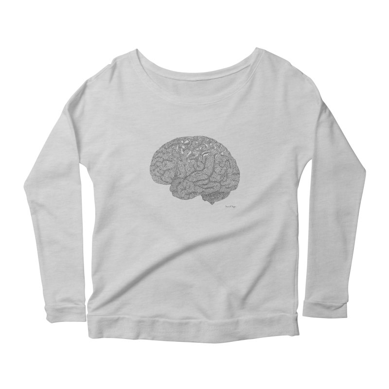 Brain Work Women's Scoop Neck Longsleeve T-Shirt by Daniel Dugan's Artist Shop