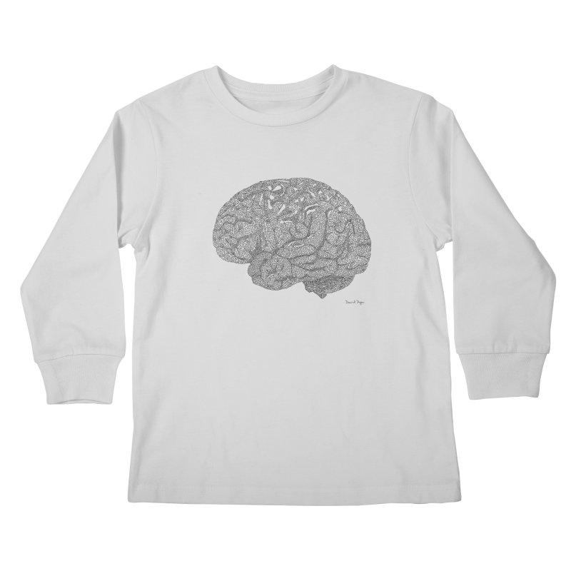 Brain Work Kids Longsleeve T-Shirt by Daniel Dugan's Artist Shop