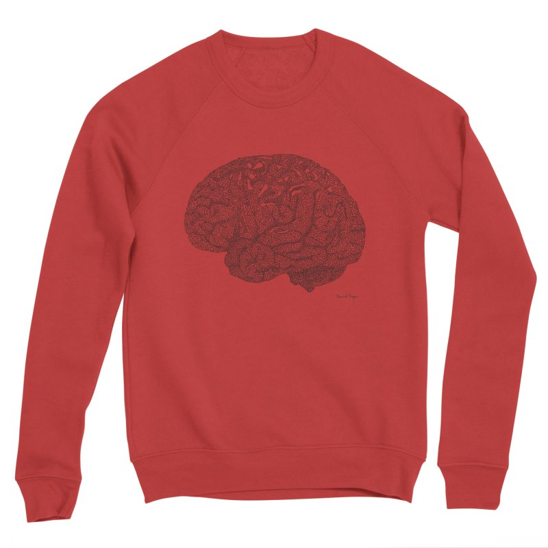 Brain Work Men's Sweatshirt by Daniel Dugan's Artist Shop