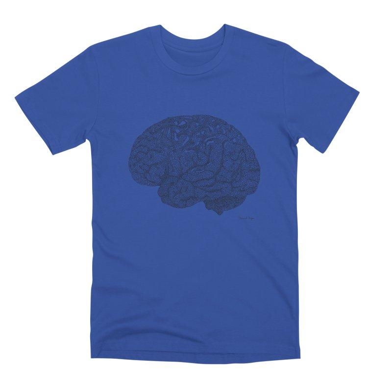 Brain Work Men's Premium T-Shirt by Daniel Dugan's Artist Shop
