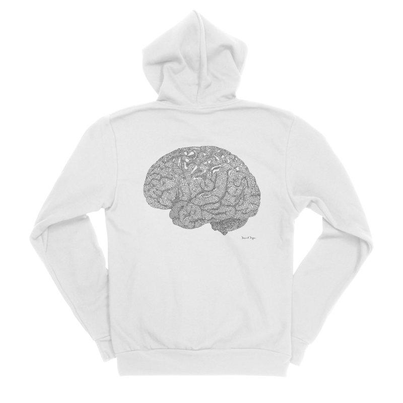 Brain Work Men's Sponge Fleece Zip-Up Hoody by Daniel Dugan's Artist Shop