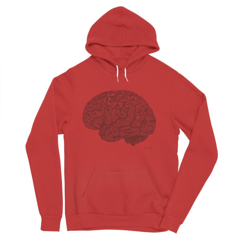 Brain Work Men's Pullover Hoody by Daniel Dugan's Artist Shop