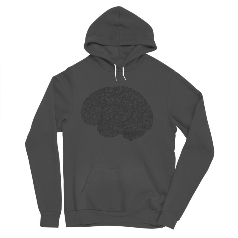 Brain Work Men's Sponge Fleece Pullover Hoody by Daniel Dugan's Artist Shop