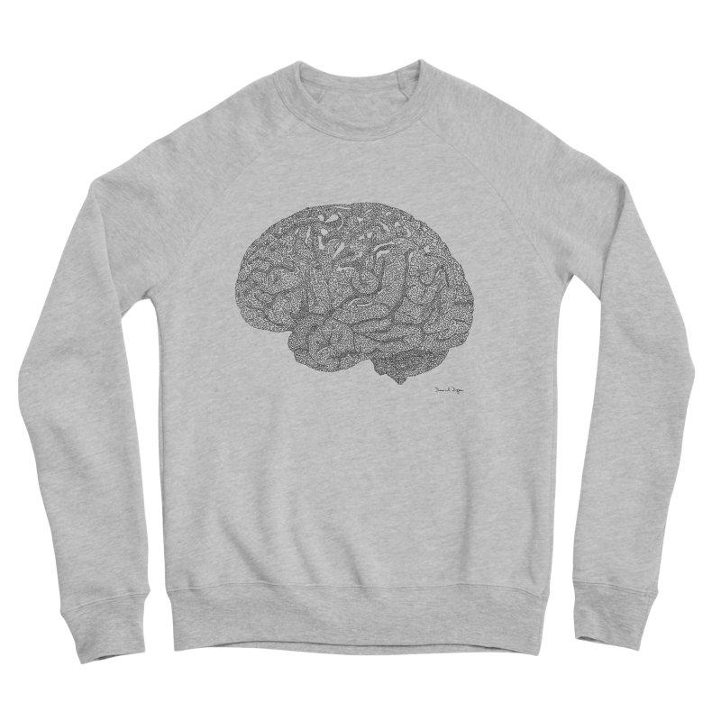 Brain Work Men's Sponge Fleece Sweatshirt by Daniel Dugan's Artist Shop