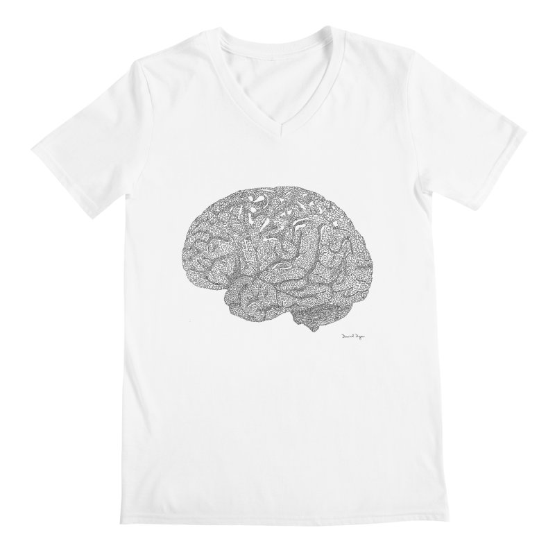 Brain Work Men's V-Neck by Daniel Dugan's Artist Shop