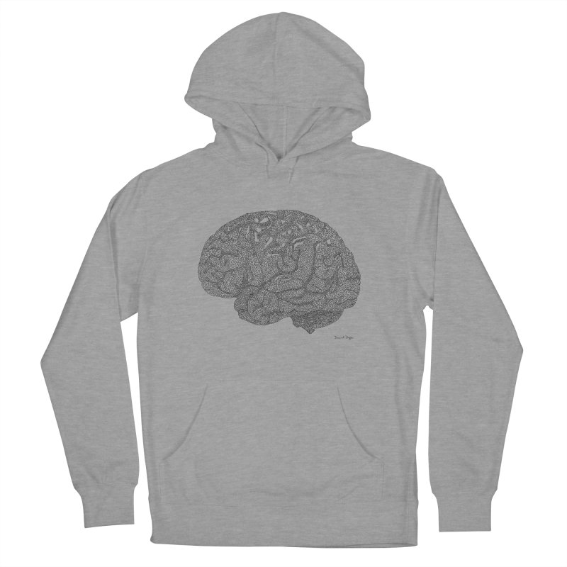 Brain Work Women's French Terry Pullover Hoody by Daniel Dugan's Artist Shop