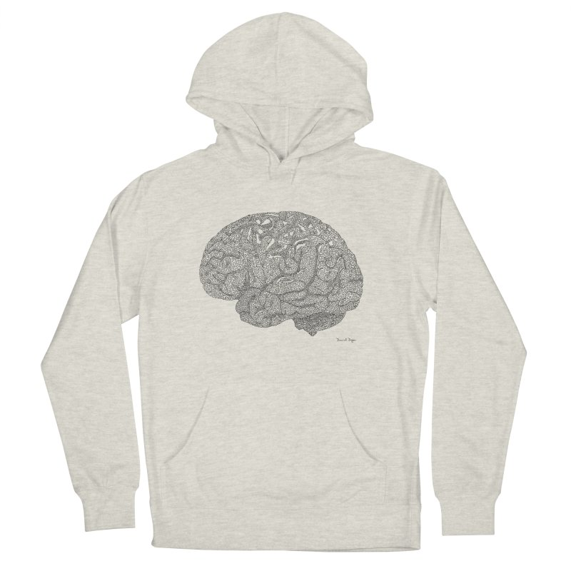 Brain Work Women's Pullover Hoody by Daniel Dugan's Artist Shop