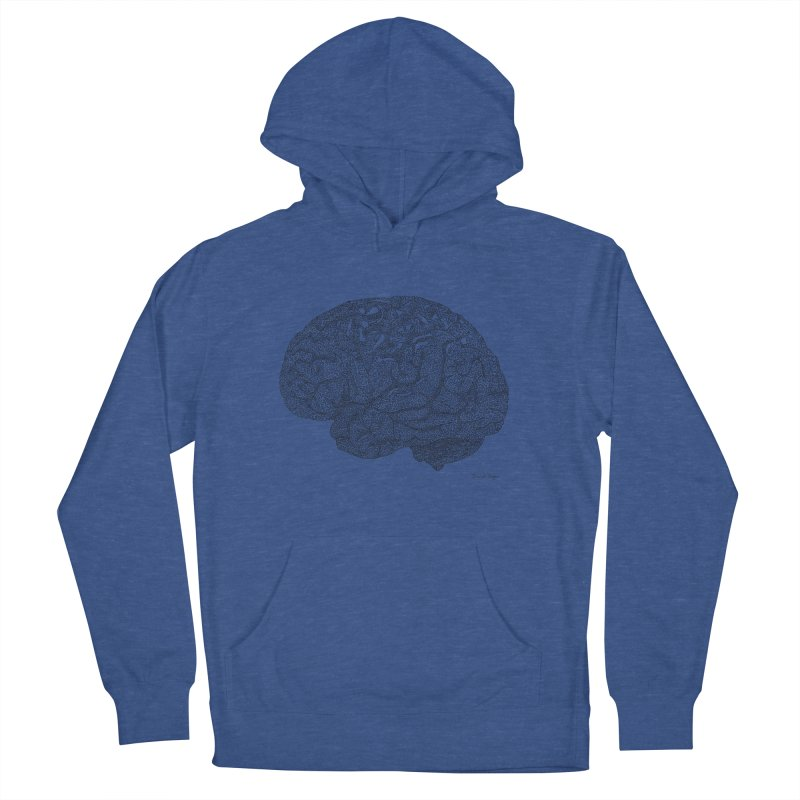 Brain Work Men's Pullover Hoody by Daniel Dugan's Artist Shop