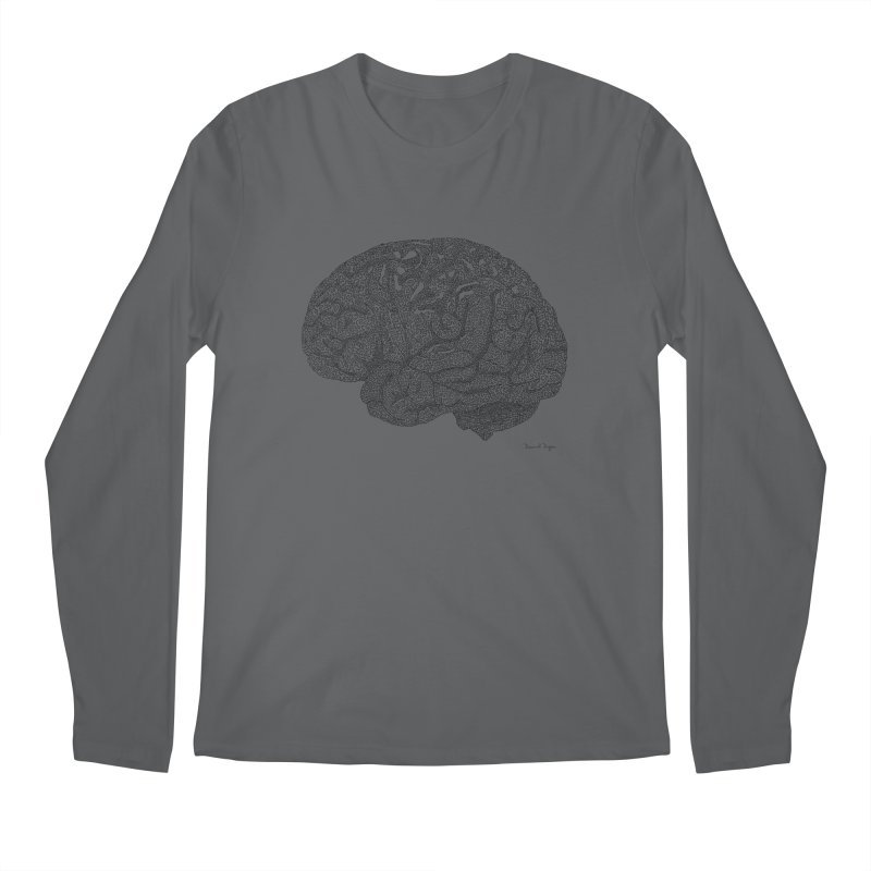 Brain Work Men's Longsleeve T-Shirt by Daniel Dugan's Artist Shop