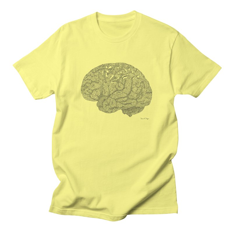 Brain Work Men's T-Shirt by Daniel Dugan's Artist Shop