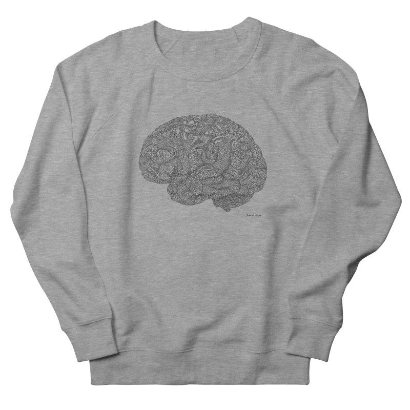 Brain Work Women's French Terry Sweatshirt by Daniel Dugan's Artist Shop