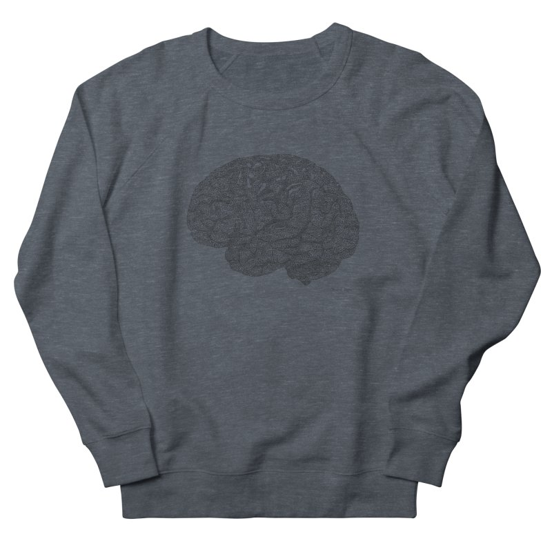 Brain Work Men's French Terry Sweatshirt by Daniel Dugan's Artist Shop