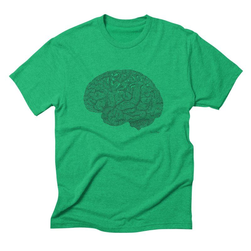 Brain Work Men's Triblend T-Shirt by Daniel Dugan's Artist Shop
