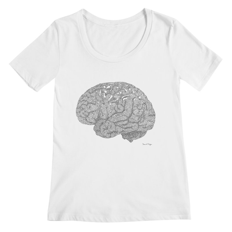Brain Work Women's Regular Scoop Neck by Daniel Dugan's Artist Shop