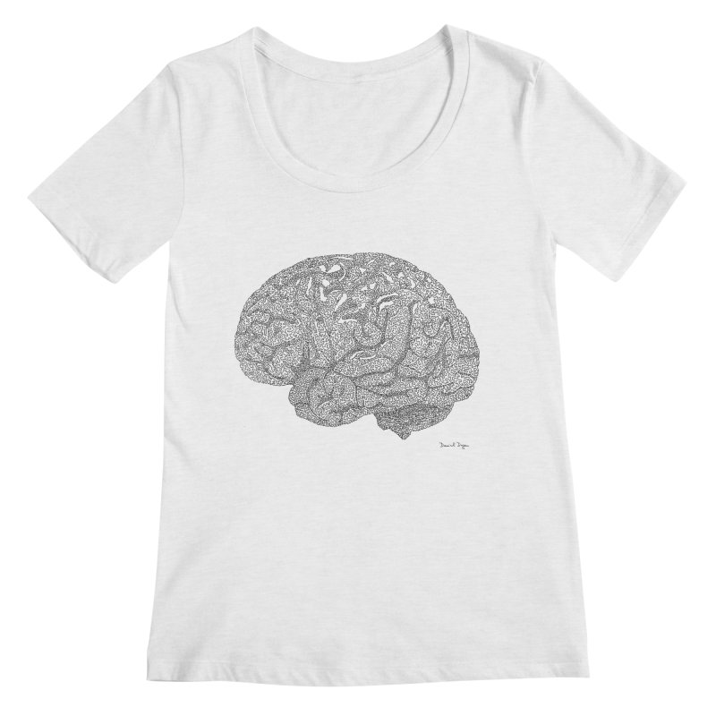 Brain Work Women's Scoop Neck by Daniel Dugan's Artist Shop