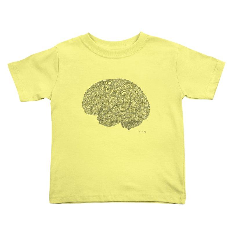 Brain Work Kids Toddler T-Shirt by Daniel Dugan's Artist Shop