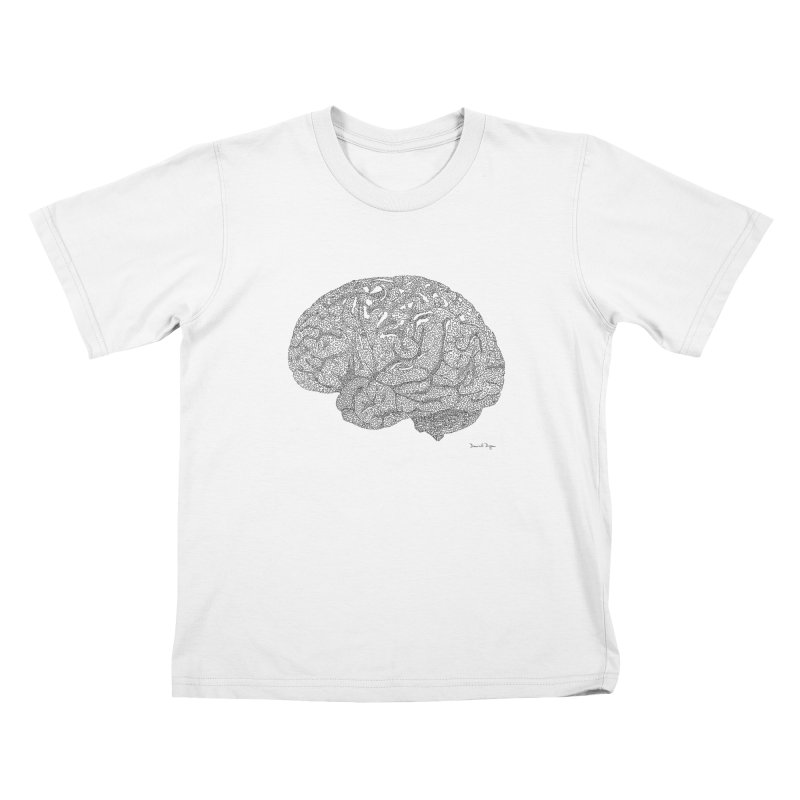 Brain Work Kids T-Shirt by Daniel Dugan's Artist Shop