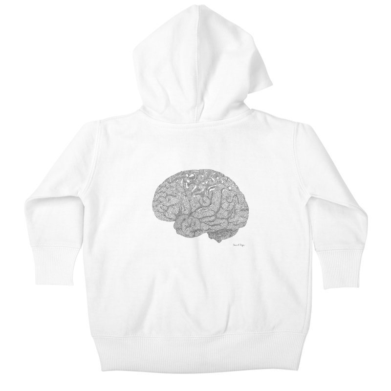 Brain Work Kids Baby Zip-Up Hoody by Daniel Dugan's Artist Shop