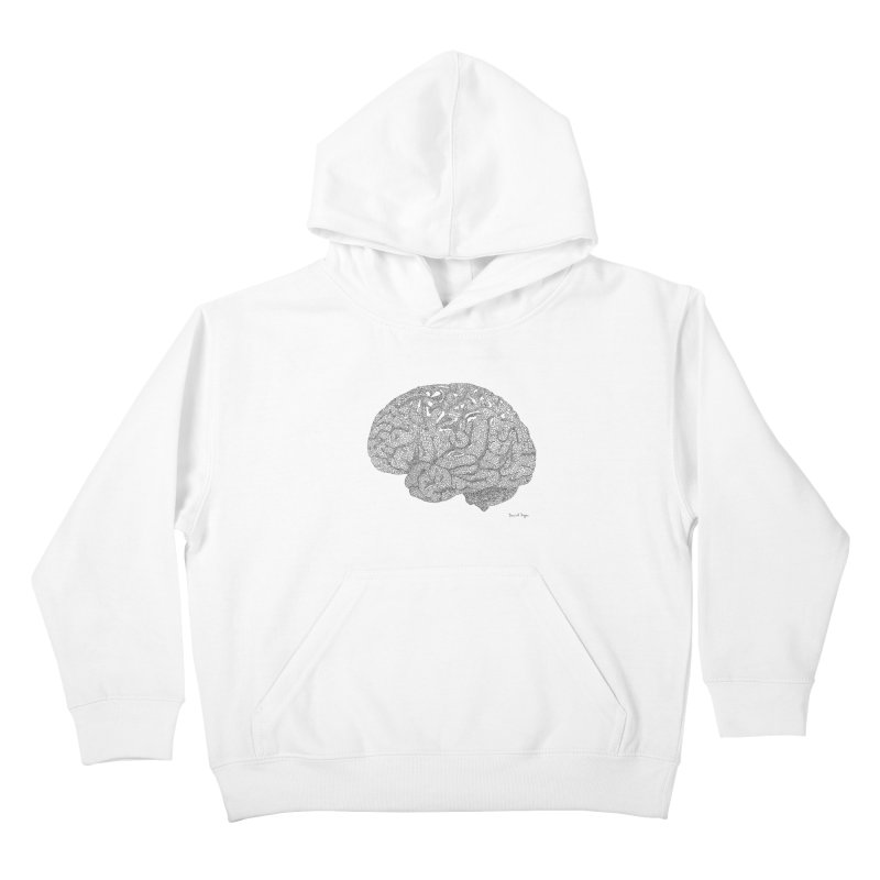 Brain Work Kids Pullover Hoody by Daniel Dugan's Artist Shop