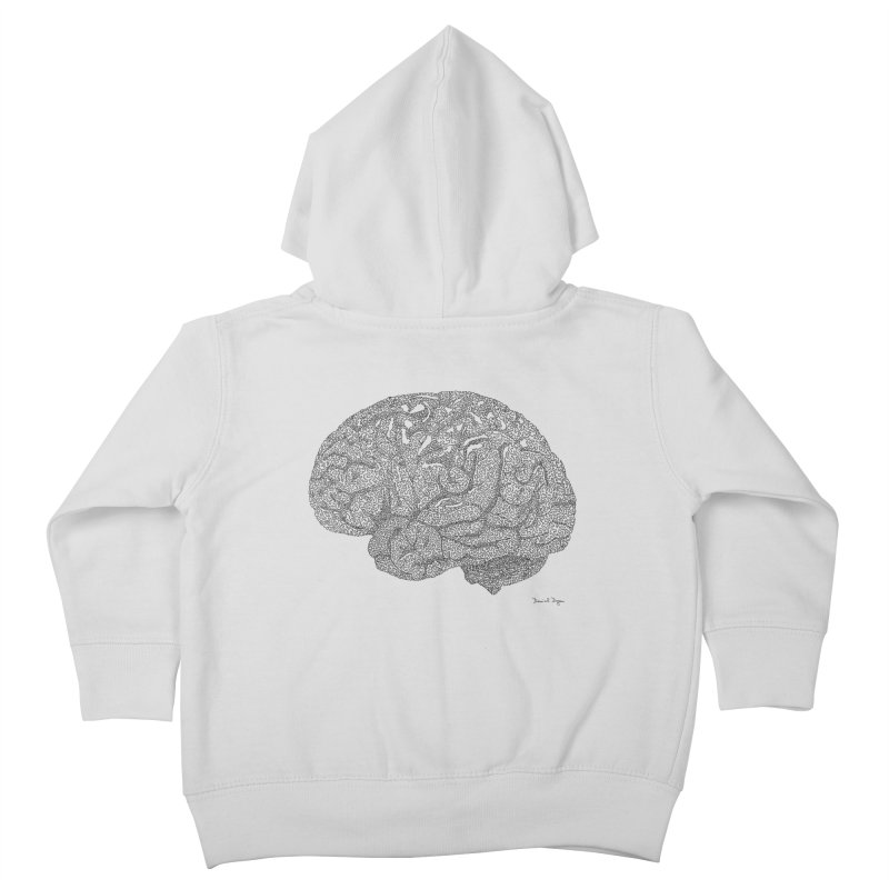 Brain Work Kids Toddler Zip-Up Hoody by Daniel Dugan's Artist Shop