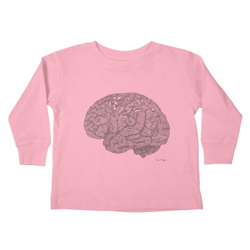 Brain Work Kids Toddler Longsleeve T-Shirt by Daniel Dugan's Artist Shop