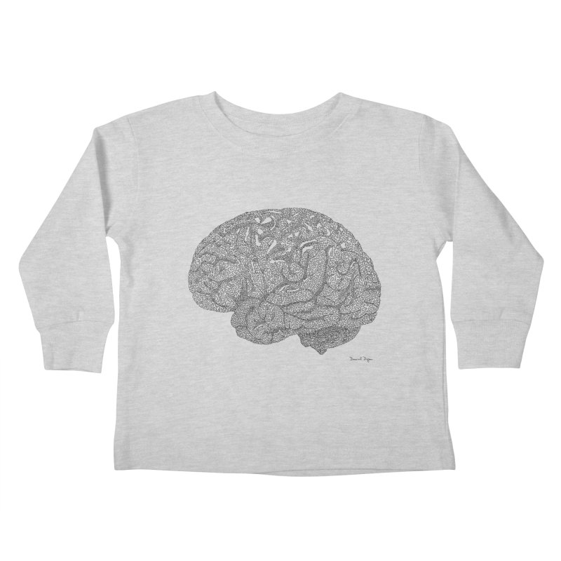 Brain Work Kids Toddler Longsleeve T-Shirt by Daniel Dugan's Artist Shop