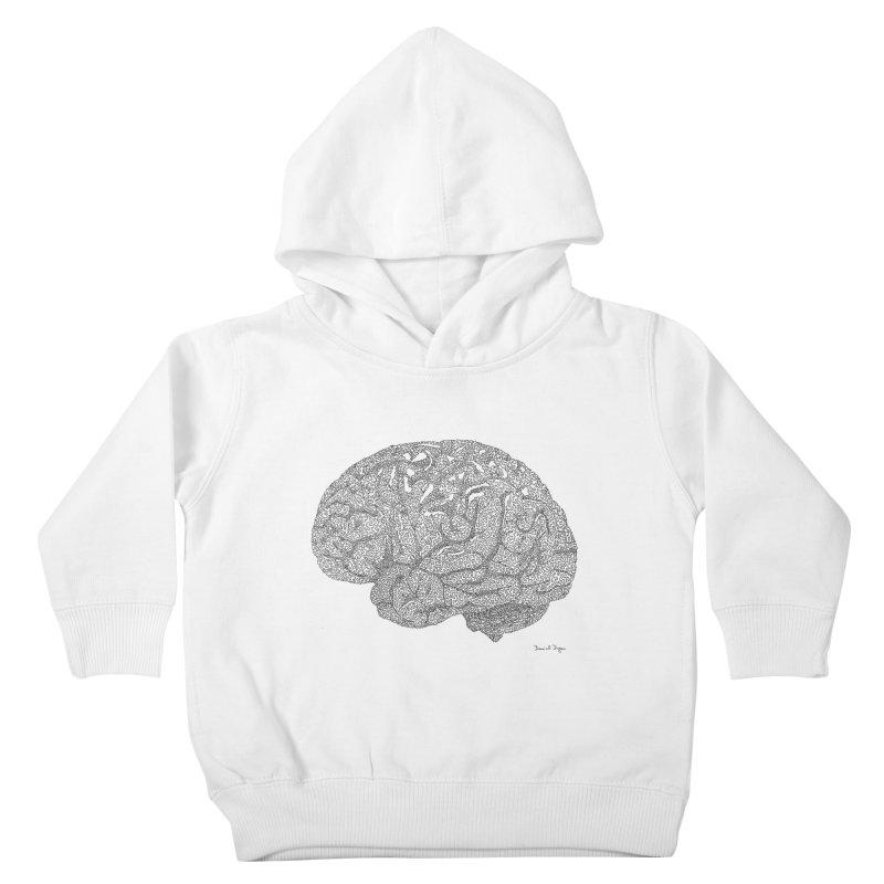 Brain Work Kids Toddler Pullover Hoody by Daniel Dugan's Artist Shop