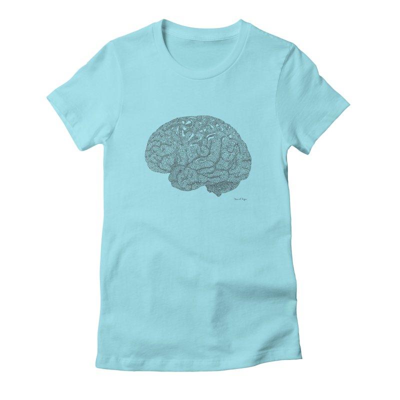 Brain Work Women's T-Shirt by Daniel Dugan's Artist Shop