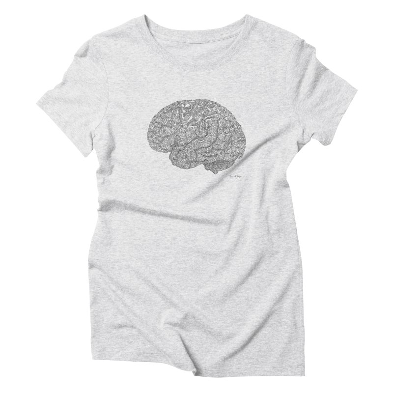Brain Work Women's T-Shirt by Daniel Dugan's Artist Shop