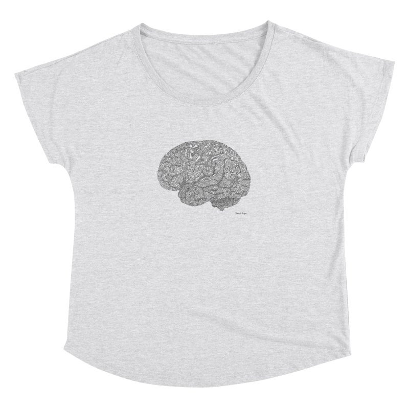 Brain Work Women's Dolman Scoop Neck by Daniel Dugan's Artist Shop