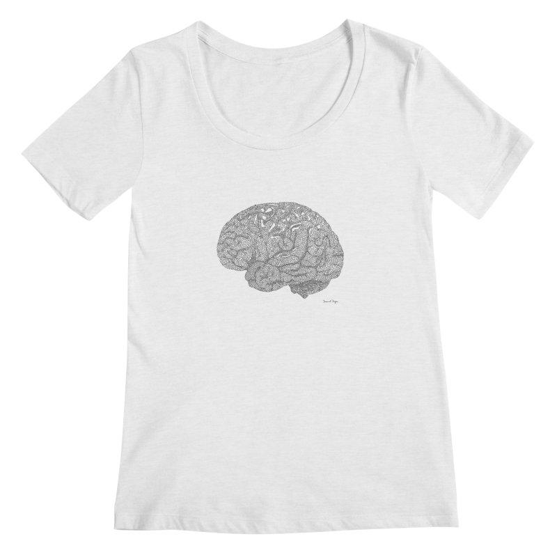 Brain Work Women's Regular Scoop Neck by Daniel Dugan's Artist Shop