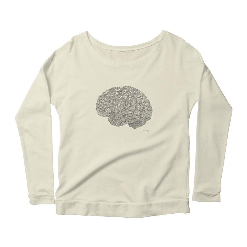 Brain Work Women's Scoop Neck Longsleeve T-Shirt by Daniel Dugan's Artist Shop