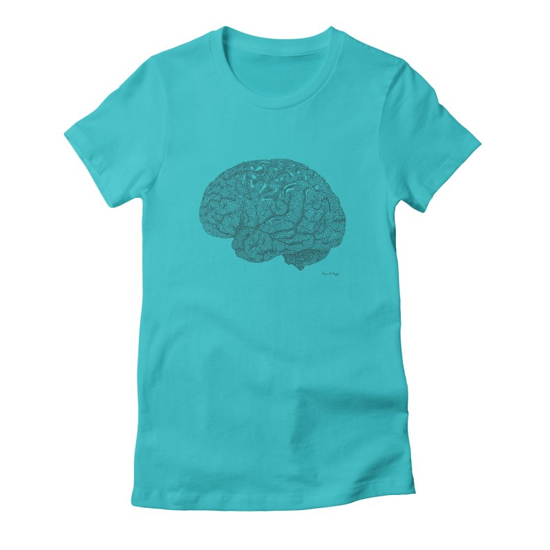 Brain Work Women's Fitted T-Shirt by Daniel Dugan's Artist Shop