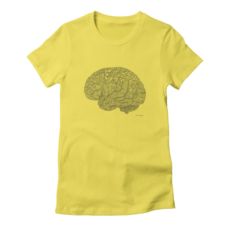 Brain Work Women's Fitted T-Shirt by Daniel Dugan's Artist Shop