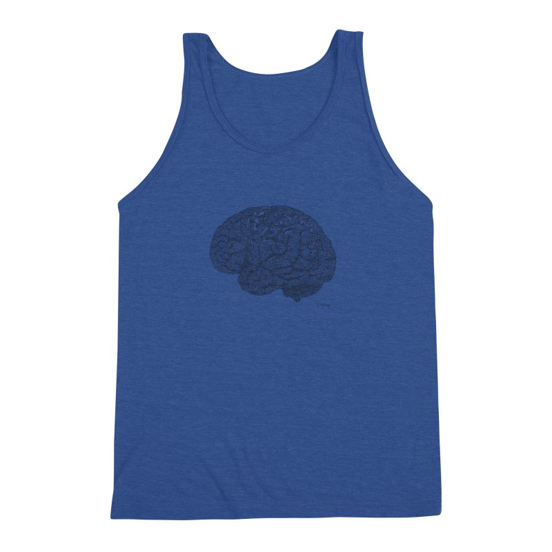 Brain Work Men's Tank by Daniel Dugan's Artist Shop