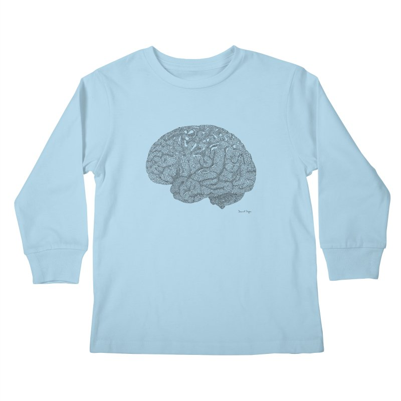 Brain Work Kids Longsleeve T-Shirt by Daniel Dugan's Artist Shop