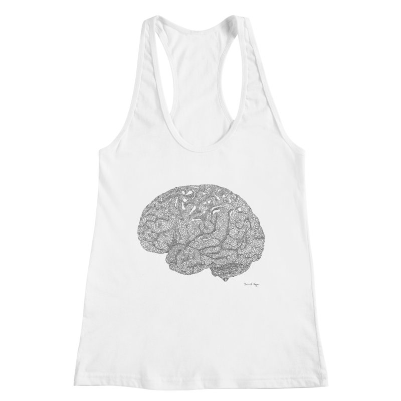 Brain Work Women's Tank by Daniel Dugan's Artist Shop